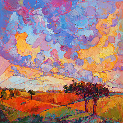 Wine Country Landscape Painting - Cloudscape by Erin Hanson