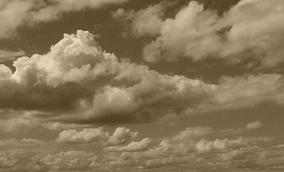 Photograph - Cloudscape In Sepia by Suzanne Gaff
