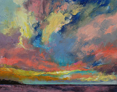 Tangerine Painting - Cloudscape by Michael Creese