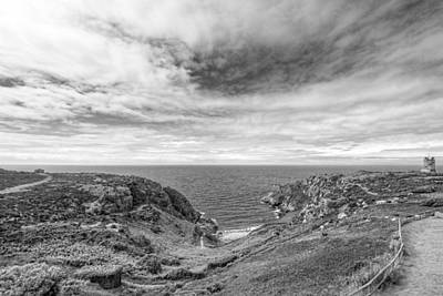 Photograph - Cloudscape Over Corbiere Coastline Bw by Gill Billington