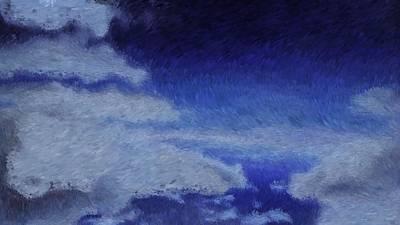 Digital Art - Clouds_impressionist Like Digital Painting by Asbjorn Lonvig