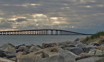 Cloudy Afternoon Bonner Bridge Art Print by Matt Taylor