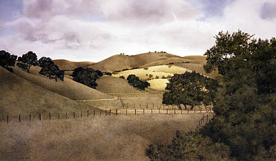Carmel Valley Painting - Cloudy Afternoon by Tom Wooldridge