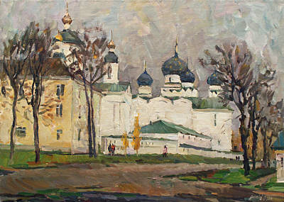 Cloudy At Uglich Art Print