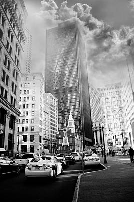 Photograph - Cloudy Boston by Elvira Pinkhas