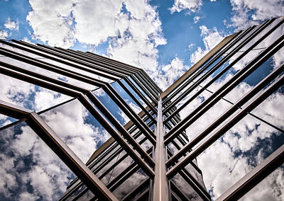 Photograph - Cloudy Building by  Onyonet  Photo Studios