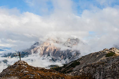Borat Photograph - Cloudy Cross by Luke Herro