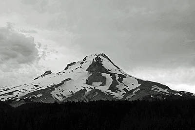 Photograph - Cloudy Day At Mt. Hood by Tikvah's Hope