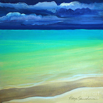 Painting - Cloudy Day At Turquiose Sea Part 3 Right Side by Robyn Saunders
