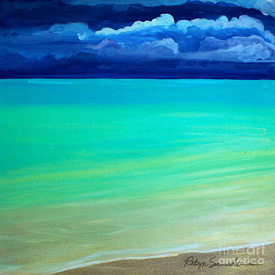Painting - Cloudy Day At Turquiose Sea Part 3 Middle Piece by Robyn Saunders