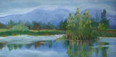 Cloudy Day At Walden Ponds Art Print