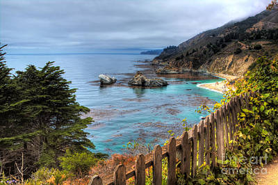 Cloudy Day In Big Sur Art Print