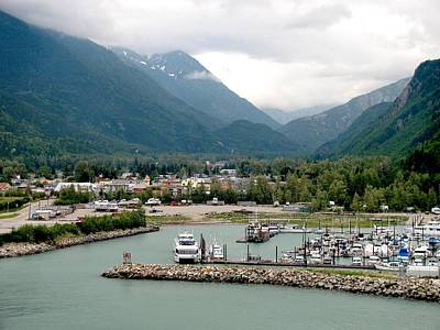 Photograph - Cloudy Day In Skagway by Steven Parker