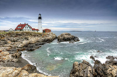 Shipping Photograph - Cloudy Day Lighthouse  by Donna Doherty