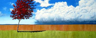 Sofa Size Painting - Cloudy Day by Michael Dillon