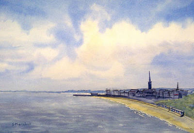 Painting - Cloudy Day Over Bridlington by Glenn Marshall