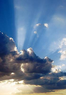 Photograph - Cloudy Day Rays by Dorothy Berry-Lound
