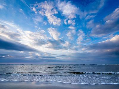 Photograph - Cloudy Evening On The Beach Of Langeoog Island by Martin Liebermann