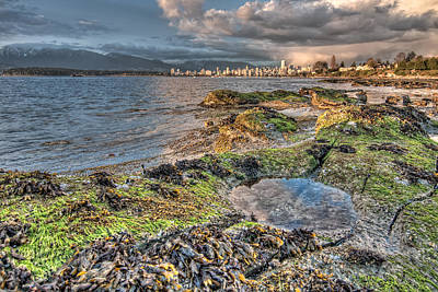Cloudy In Downtown Vancouver Art Print by James Wheeler