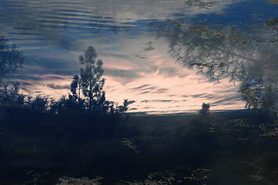 Cloudy Lake Art Print by Nicole Swanger