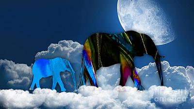 Cloudy Art Print by Marvin Blaine