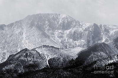 Recently Sold - Steven Krull Royalty-Free and Rights-Managed Images - Cloudy Misty Pikes Peak by Steven Krull