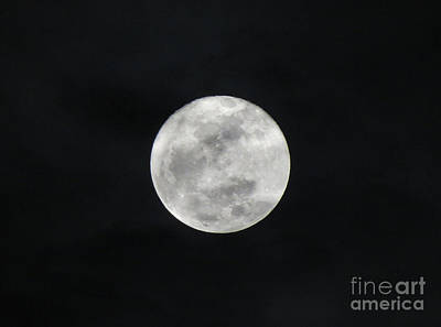 Cloudy Moon Art Print