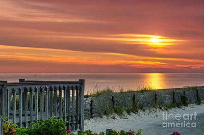 Sandy Neck Beach Sunrise Art Print by Mike Ste Marie
