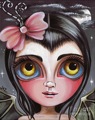 Pop Surrealism Painting - Cloudy Night Fairy by Jaz Higgins