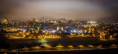 Photograph - Cloudy Night In Jerusalem by David Morefield