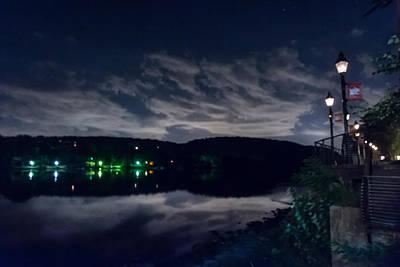 Gas Lamp Photograph - Cloudy Night by Ryan Crane