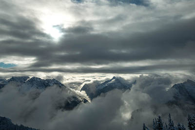 Mountain Royalty-Free and Rights-Managed Images - Cloudy Range by Ryan McGinnis