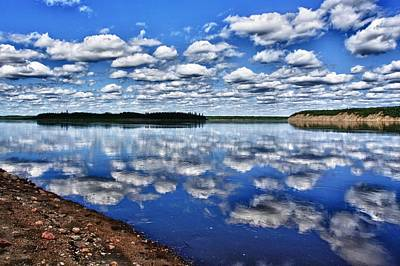 Photograph - Cloudy Reflection by Scott Holmes