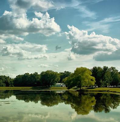 Cloudy Reflections Print by Kim Hojnacki