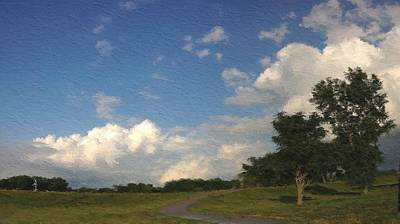 Photograph - Cloudy Skies On A Sunny Day In Cedar Falls Iowa by Victoria Porter