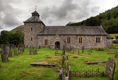 Cloudy Sky Overshadows Melangell Church In Wales Art Print