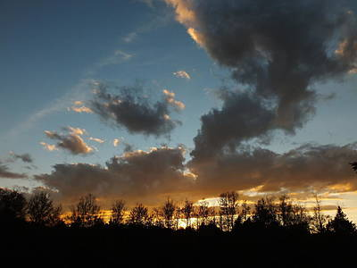 Photograph - Cloudy Sunset by Gene Cyr