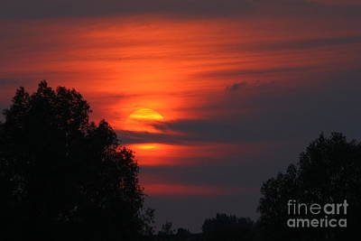 Photograph - Cloudy Sunset by Jeremy Hayden