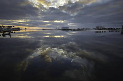 Digital Art - Cloudy Terrys Cove by Michael Thomas