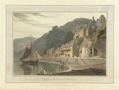 Clovelly Fishing Village And Port Art Print by British Library