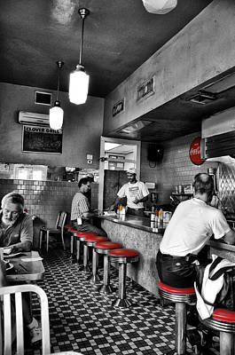 French Quarter Digital Art - Clover Grill - New Orleans by Bill Cannon