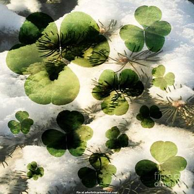 Clovers After The Snow Art Print by PainterArtist FIN