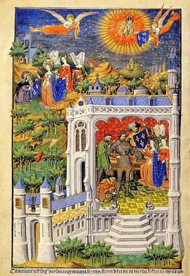 Clovis Painting - Clovis Recevant La Fleur De Lys by Celestial Images