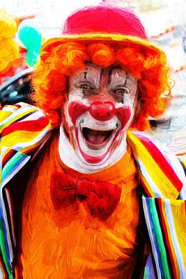 Photograph - Clown by Carlos Diaz