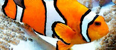 Digital Art - Clown Fish - Clownfish - Tropical Fish by Sharon Cummings