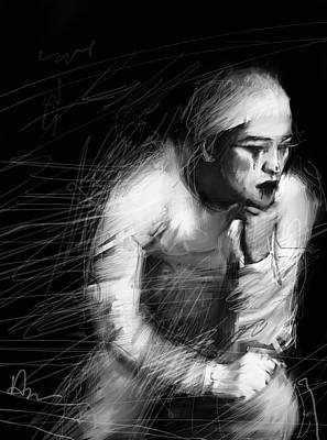 Sad Clown Painting - Clown by H James Hoff