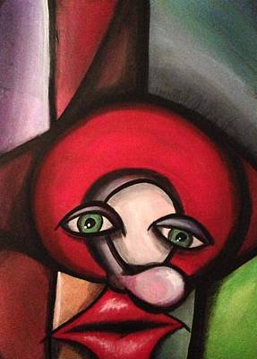 Painting - Clown In Awe by D August