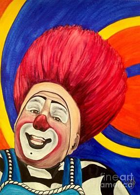 Painting - Watercolor Clown #17 Mark Carfora by Patty Vicknair