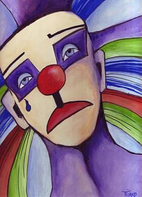 Clown Nez Rouge Art Print by Mirko Gallery