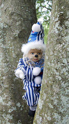 Dolls Photograph - Clown Outdoors 2 by William Patrick